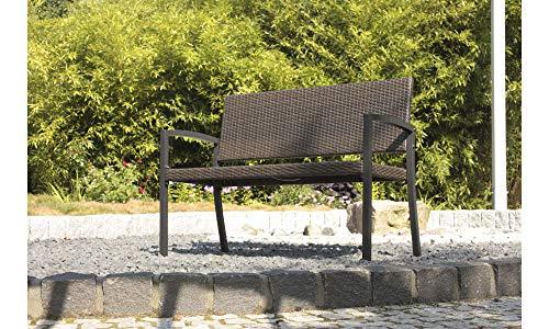 Parkbank Sanremo aus Aluminium / Kunststoff Farbe: Schwarz - 2