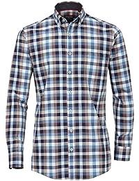 Casa Moda - Comfort Fit - Herren Freizeit Hemd mit Kent Kragen in Blau oder Grün (472859400)