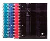 Clairefontaine Bind'O Block Quaderno con rilegatura a spirale, 160pagine, lotto di 5 quaderni assortiti A righe con margine 160 pages colori assortiti