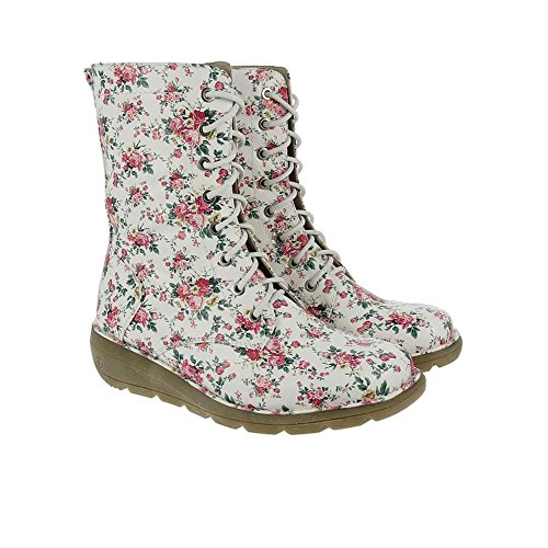 Heavenly Feet Walker2 Bottes Blanc Floral Floral Blanc