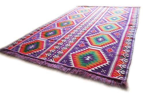 200 cm x 135 cm Alfombra Oriental, Kelim, Kilim, Carpet,Manta al Suelo , Rug nuevo de Damaskunst S 1-4-72