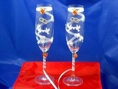Champagne Glasses / Wedding Present / Set of 2 7