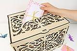 Hochzeitskarten Box, Hochzeit Kartenhalter, Kartenbox für Hochzeit, Spardose, Hochzeit Box, Karten Box, Hochzeitskarte, Laser Cut Box, Karten Halter