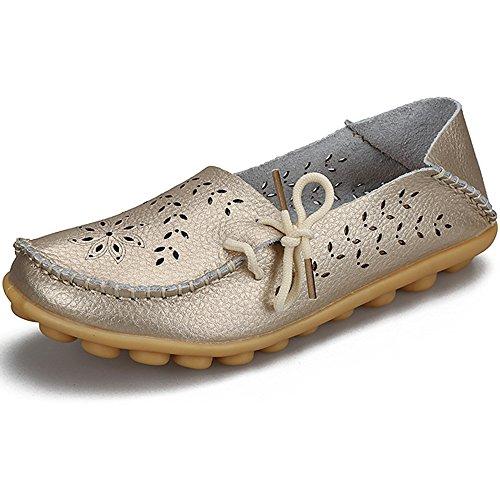 4ac6472c2c741c Eastlion Hohle Lederne LochSchuhflache Untere Schuhe Beiläufige  KrankenschwesterSchuhe Farbe 16
