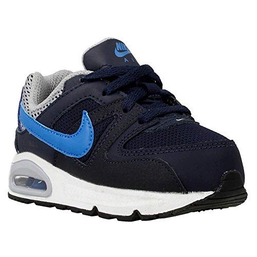 Nike Air Max Command, Chaussures Premiers Pas Bébé Garçon - Multicolore - Noir/Bleu/Gris (Obsidienne/Bleu Photo - Gris Loup), 21 EU