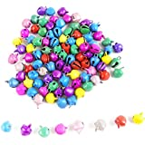 [Sponsored]eshoppee 100 Pcs, 6mm Multicolor Metal Bell Charms Beads For Jewellery Making And Home Decoration,art And Craft Making Diy Kit