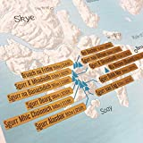Maps International Munro Bagging Collect and Scratch Off Travel Map for Walkers - 59 x 84 cm