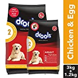 #4: Drools Chicken and Egg Adult Dog Food, 3 kg with Free 1.2 kg