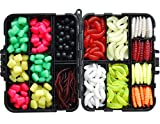 JSHANMEI Ã'Â 220PCS/Box Carp Fishing Tackle Box Artificial Plastic Fake Baits Sweetcorn/Beads/Worm Lures Imitation Baits Carp Fishing Gear Kit by JSHANMEI
