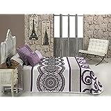 Textilia Misouri - Colcha cubrecama, para cama de 180 cm, 270 x 270 cm, color lila
