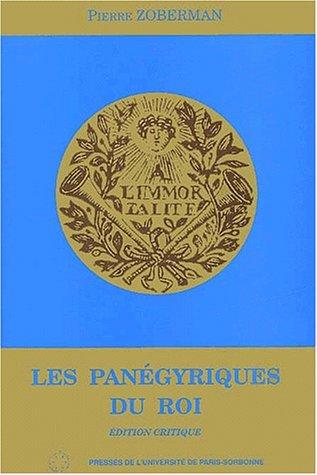 Les panégyriques du roi prononcés dans l'Académie française