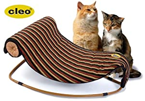 Cleo Pet bed Chaise longue cat bed in Stripe fabric - Pure feline decadence! from Cleo Pet Ltd