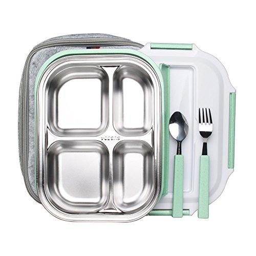 Heißes Thermal Isolierte Edelstahl Einzelne Schicht Lunchbox Brotdoser Grün DE