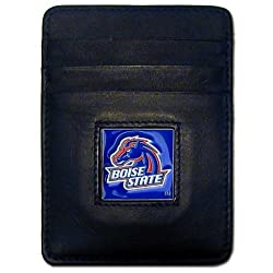NCAA Boise State Broncos Leather Money Clip/Cardholder Wallet