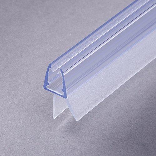 100cm Sealis Ersatzdichtung mit Dichtkeder für 6mm/ 7mm/ 8mm Glasdicke Wasserabweiser Duschdichtung Schwallschutz Duschkabine #S1001