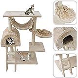 Árbol para gato con rascador de color beige – Rascador de sisal natural