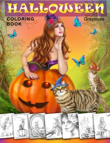 ook. Grayscale: Coloring Book for Adults (Print-halloween-coloring Book)