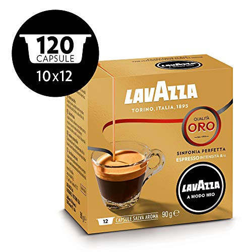 Lavazza Modo Mio capsules de café 12Oro (lot de 10)