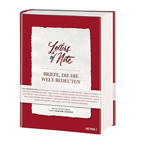 Livres Couvertures de Letters of Note - Briefe, die die Welt bedeuten
