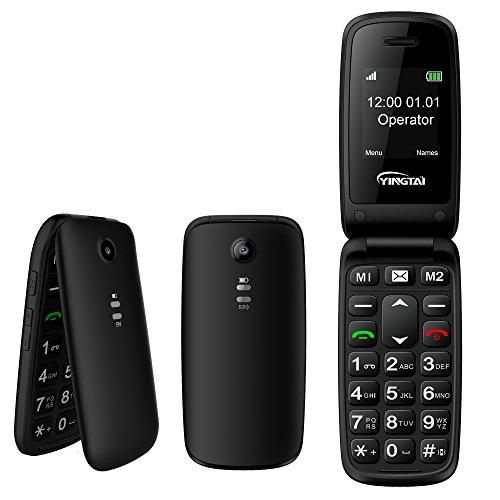 YINGTAI T15 2G Seniorenhandy Klapp-Handy mit Großen Tasten und Notruffunktion mit SOS-Taste