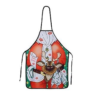 AFUT Sexy Santa Novelty Christmas Cooking Apron Unisex Novelty Cute Xmas Dinner Party Accessor