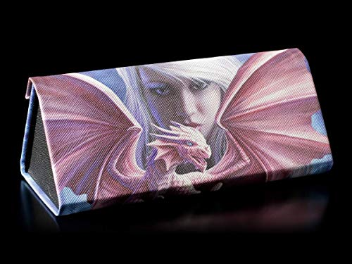Fantasy Brillenetui mit einem roten Drachen-Motiv - Dragonkin   Hartschale, Hardcase, Motiv von Anne Stokes