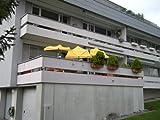 STABIELO–balcone paralume–scomparti paralume HOLLY 'mat ® gialla con balkonhalterung esclusiva per brüstungen fino a 195mm + protezione in gomma copripunta–innovazioni MADE in GERMANY–HOLLY PRODUKTE STABIELO®–holly-sunshade ®