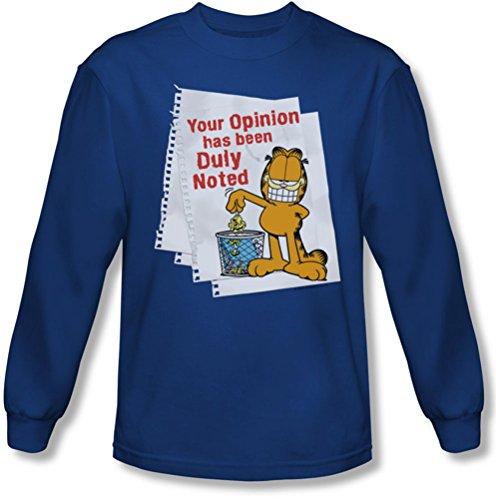 Garfield - Herren Kenntnis genommen Langarm-Shirt In Königs Royal