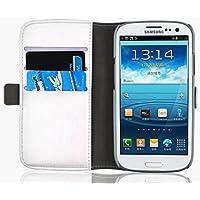 Schutzhülle Galaxy S3, JAMMYLIZARD Schutzhülle Luxury Wallet Bookstyle Ledertasche für Samsung Galaxy S3und S3NEO, Weiß