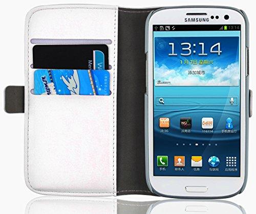 Cover Galaxy S3, JAMMYLIZARD Custodia Luxury Wallet a Libro in Pelle per Samsung Galaxy S3 e S3 Neo, BIANCO