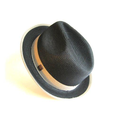 Dasmarca-Collection été- déformable et Compressible Chapeau de Paille Style Fedora-Florence