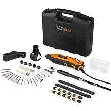 Tacklife Mini amoladora eléctrica Advanced Professional Kit de herramientas rotatorias multifunción con 80 accesorios y 3 accesorios Velocidad variable para artesanías