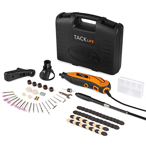 Tacklife RTD35ACL Strumento Multifunzione,Utensile Rotante con 83 Accessori, Mini Drill con Velocita' Variabile per Incidere, Tagliare, T