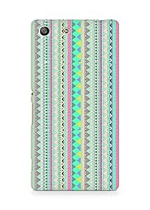 Amez designer printed 3d premium high quality back case cover for Sony Xperia M5 (aztec prints )