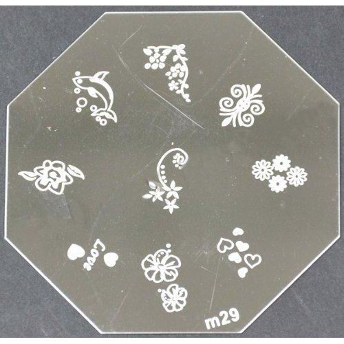 Nail Art emboutissage des tôles - M01 CODE : M29-plaque