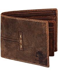 Rustic Town alta qualità fatto a mano portafogli di pelle Portamonete di pelle Stile vintage e antiquariato Per uomini e donne. Un regalo da artigiano indiano.