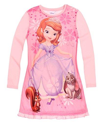 Disney Sofia die Erste Nachthemd langarm rosa (92) (Langarm-pyjamas Prinzessinnen Disney)