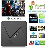 TV BOX Kodi 16.1 con Android 5.1 TV 4K Smart TV CAJA Rockchip RK3229 de cuatro núcleos de Cortex A7 1G / 8G Streaming Media Player TV Box WiFi-HDMI