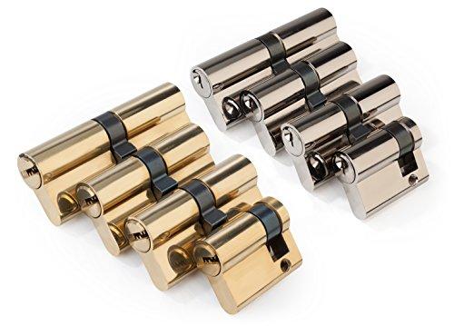 Schließzylinder Satz 4-teilig mit 12 Schlüsseln ohne seitliche Sicherheitseinfräsung