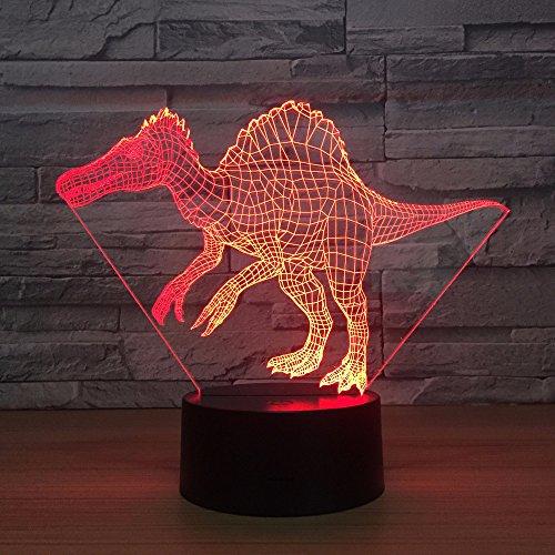BDQZ Drache 3d Lampe Neuheit Luminaria De Mesa 3d Leuchten Weihnachtsschmuck Geschenk für Babyzimmer Led Nachtlicht -