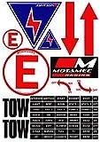 Motamec – Planche d'autocollants de sécurité de MSA Racing