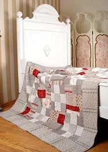 SCHÖNE DECKE WIE AUS GROSSMUTTERS ZEITEN MONOGRAMM Quilt Plaid Patchwork Decke Original Palazzo24