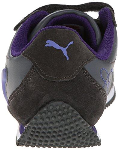 Puma Speeder Illuminescent Rund Synthetik Sportliche Turnschuh Dark Shadow/Blue Iris/Parachute Purple