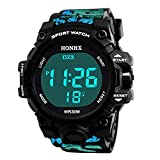 Xmansky Reloj de Pulsera para Hombre Reloj de Pulsera Digital de Acero Inoxidable con Banda Deportiva