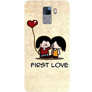 Casotec First Love Design Hard Back Case Cover for Huawei Honor 7