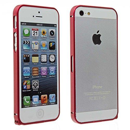 probagz® en aluminium Bumper Case coque pour Apple iPhone 5& 5S rouge
