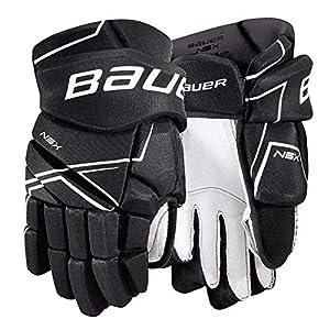 Bauer NSX Handschuhe Senior, Größe:15 Zoll, Farbe:Schwarz