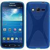 Funda de silicona para Samsung Galaxy Express 2 - X-Style azul - Cover PhoneNatic Cubierta + protector de pantalla