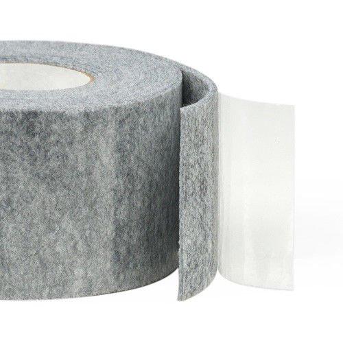 Filz-Möbelunterlage, selbstklebend, für harte Oberflächen, 3 mm dick, 20 mm breit, 5 m, Grau (Rollen Auf Filz-schreibtisch-stuhl)