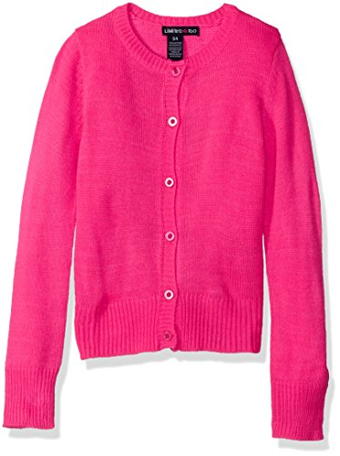 Limited Too Big Girls' Cardigan Sweater, Neon Hot Pink, Small 7/8
